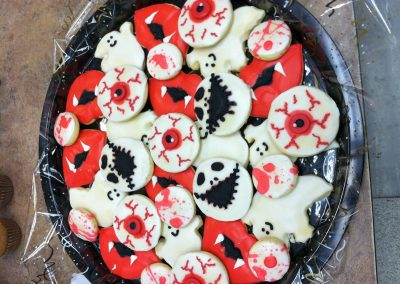 Halloween Tray (eyeballls, skeletons, ghosts, blood)